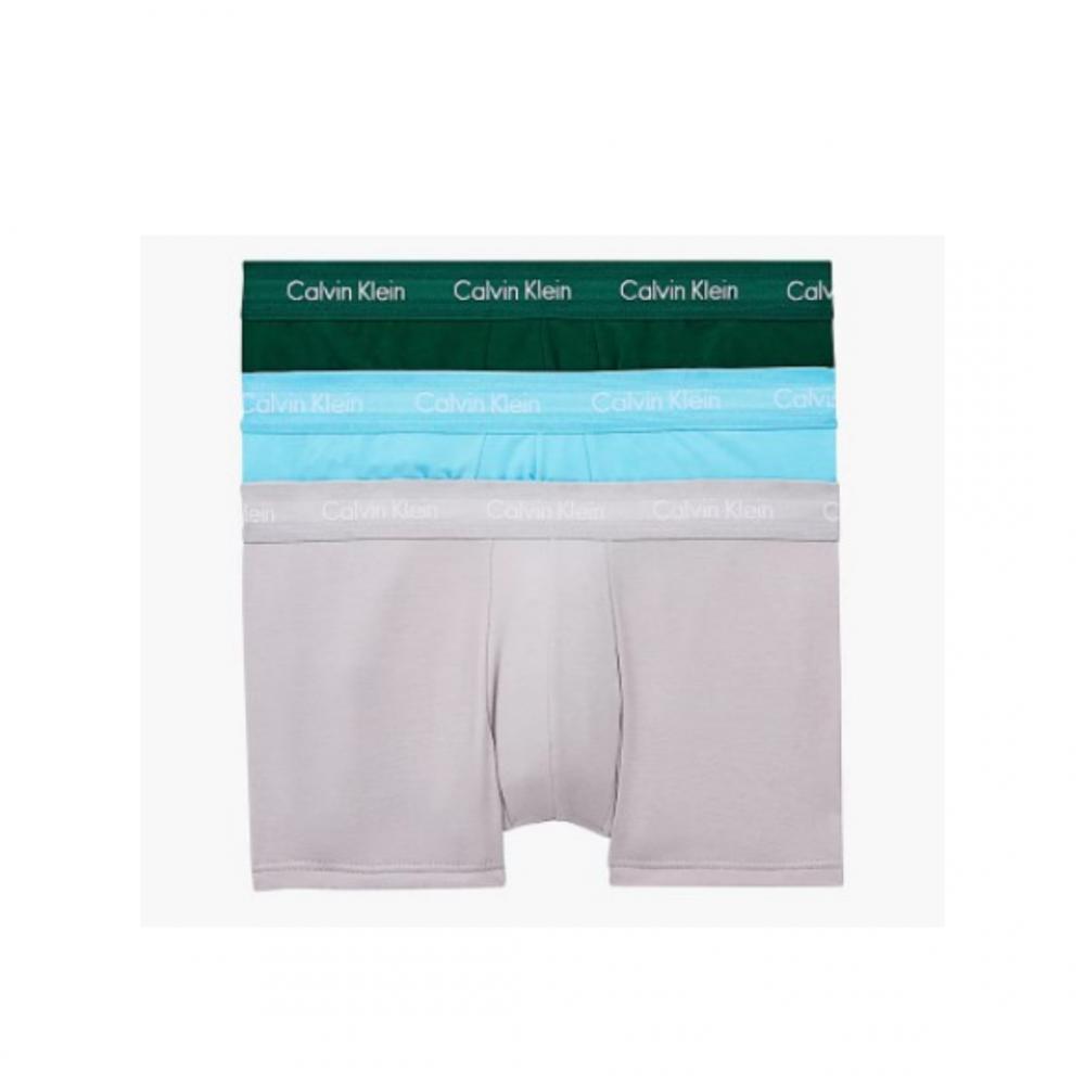 Calvin Klein Ανδρικά Boxer 3 τεμ. Πράσινο-Γκρι-Γαλάζιο - 0000U2664G-M9Y