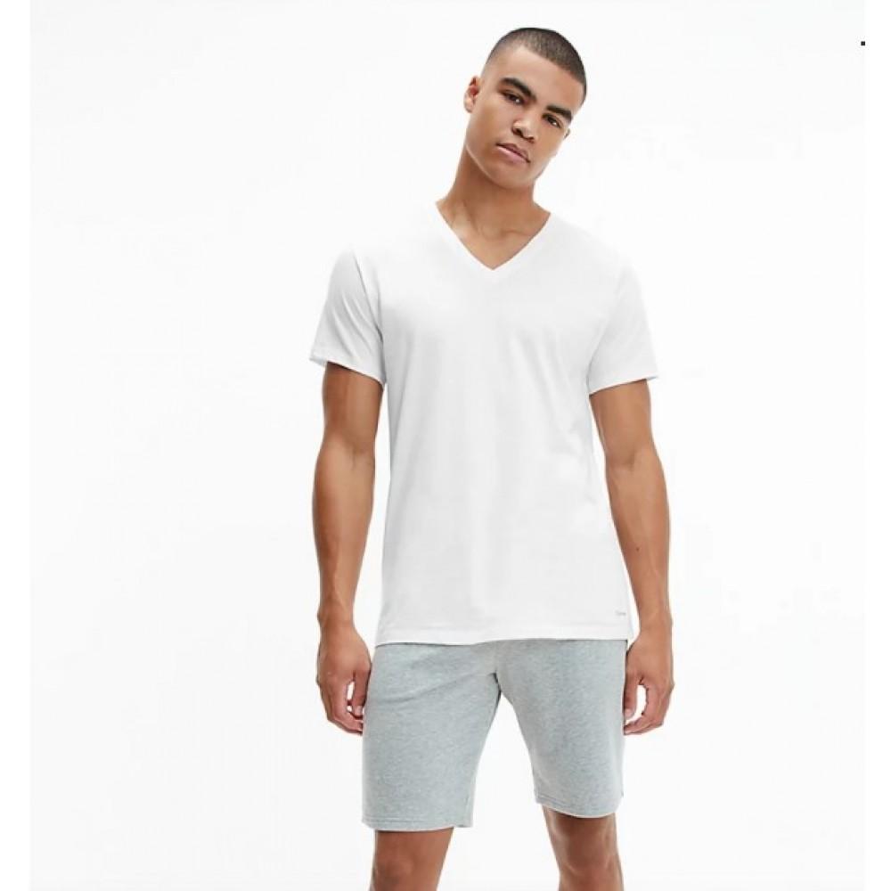 Calvin Klein Ανδρικά Μπλουζάκια 3τεμ. Λευκό - 000NB4012A-100
