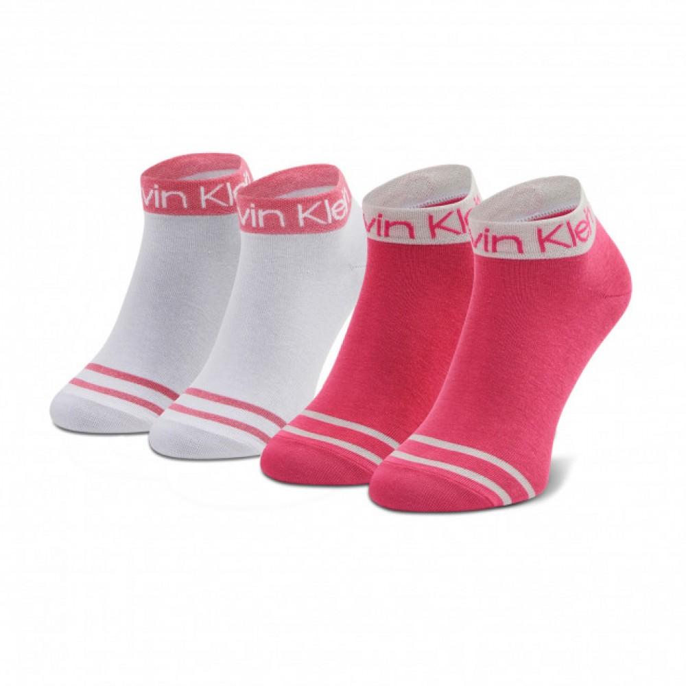 Calvin Klein Γυναικείες Κάλτσες 2τεμ. Λευκό-Φούξια - 701218775-003