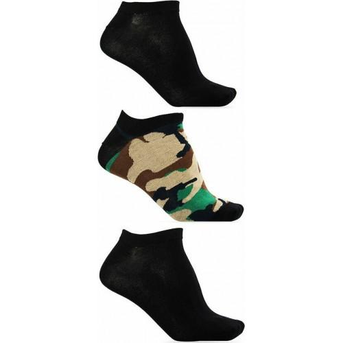 Diesel Ανδρικές Κάλτσες 3τεμ. Μαύρο-Χακί - 00SI8H-0HAZV-E5468