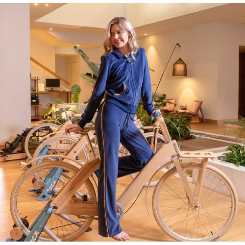 Harmony Γυναικεία Φόρμα Βελουτέ Μπλε Lourex - 29950