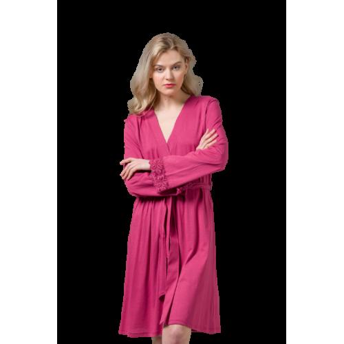 Harmony Γυναικεία Ρόμπα Ροζ Σκούρο -  49701