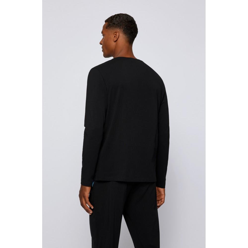 HUGO BOSS Ανδρική Μπλούζα-Πυτζάμα Μαύρο - 50379006-011