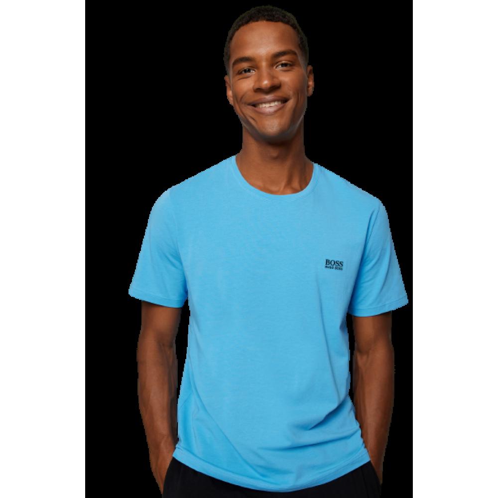 HUGO BOSS Ανδρικό Μπλουζάκι-Πυτζάμα Γαλάζιο - 50381904-440