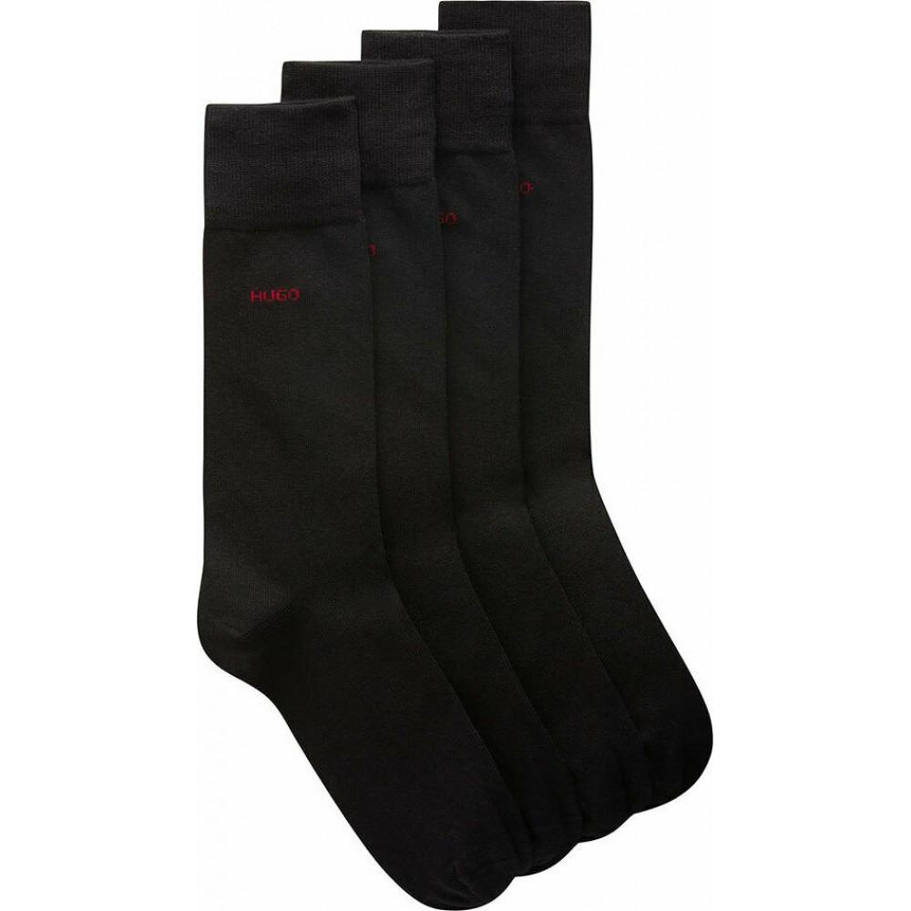 HUGO BOSS Unisex Ανδρικές Κάλτσες 2τεμ. Μαύρο - 50448250-001