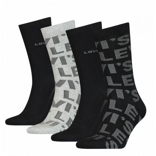 Levi's Ανδρικές Κάλτσες 4 τεμ. Μαύρο-Γκρι - 100000607
