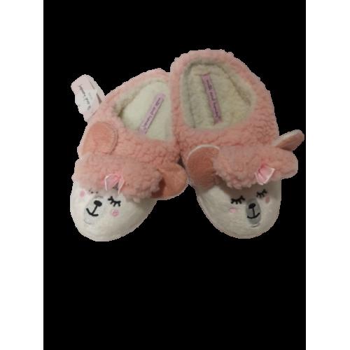Milk and Honey Παιδικές Παντόφλες Λευκό-Ροζ - SHB009