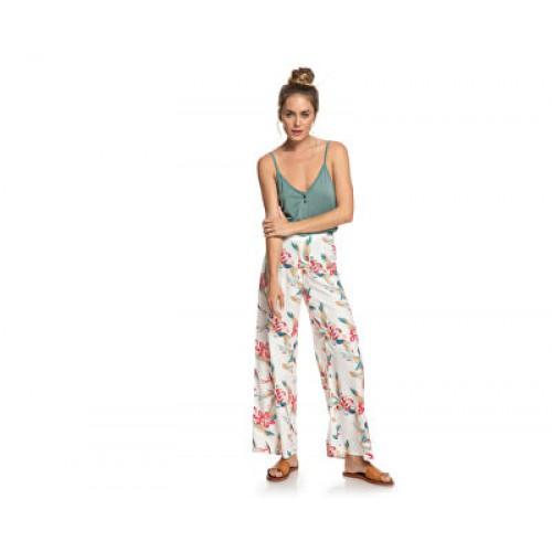 Roxy Γυναικείο Παντελόνα Λευκό-Φλοράλ - ERJNP03287-WBK7