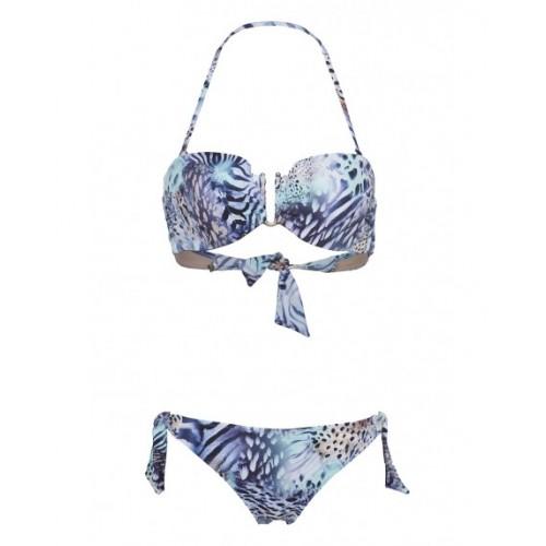 Bilitis Γυναικείο σετ μπικίνι - Γαλάζιο λεοπάρ- AS002D Μαγιό 74d1c0f4087